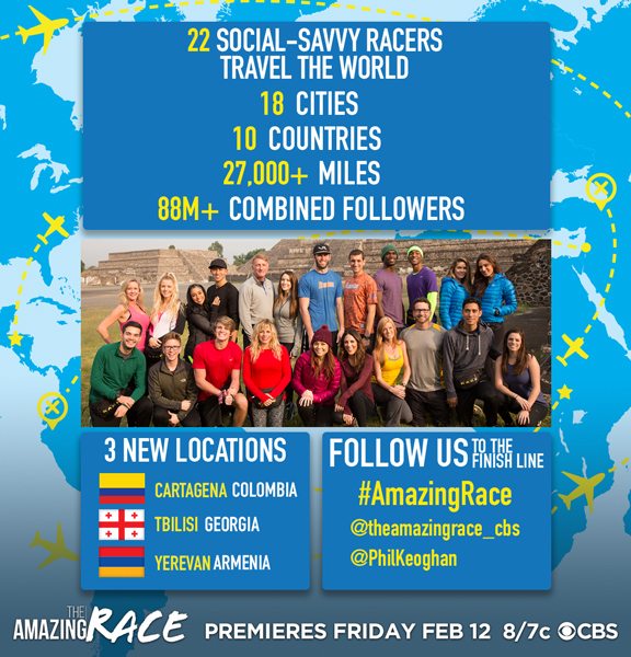 Watch the best reality show, The Amazing Race - Social Media Edition, Fridays at 8
