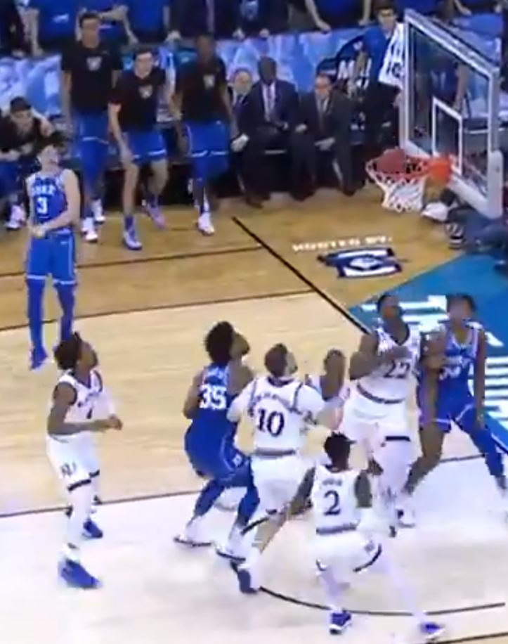 Grayson Allen buzzer beater attempt just misses
