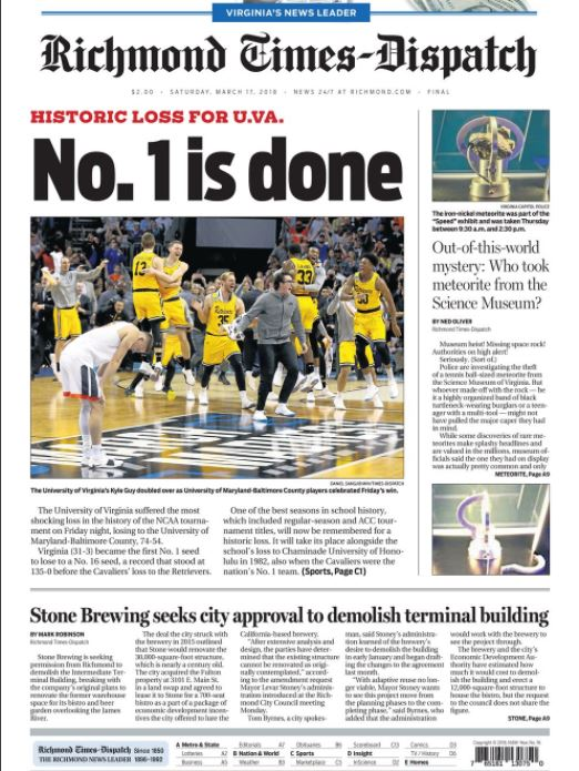 Headline - UMBC v Virginia