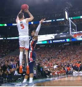 Auburn foul on Virginia's Guy
