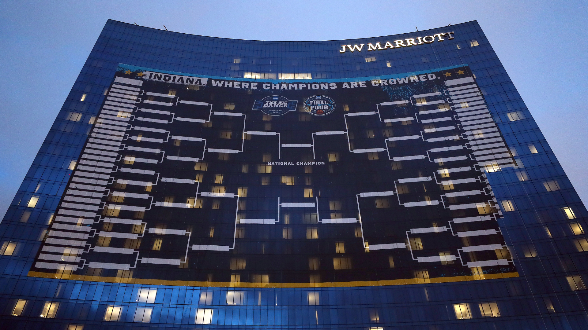 Largest bracket on the JW Marriott in downtown Indy